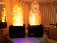 Diablo Flame machine lights