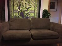 Two Seater Fabric Sofa.