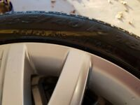 18-inch Alloy Wheels with Pirelli Winter Tyres for Mercedes Benz CLS
