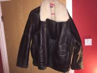 Mes leather bomber jacket large!