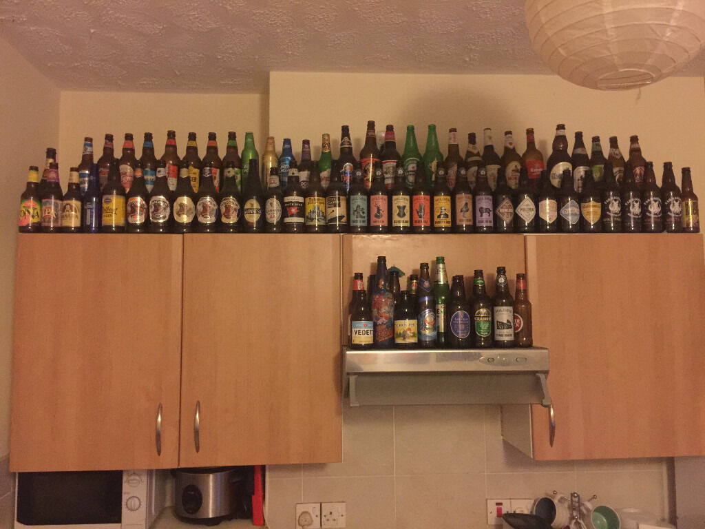 craft beer beer bottle collection 110 bottles empty perfect