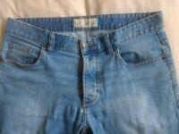 Next Slim Fit Jeans 32 Long Light Blue Mens