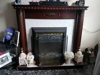 Hi i am selling my fireplace and it comes with we electric fire