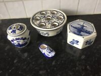 bundle of Delft ware made in holland