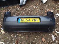 VW GOLF MK5 2004 REAR BUMPER BLUE