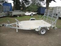 PHOENIX 8-6 X 6-0 (1300KG BRAKED) CAR / TWIN MOTORCYCLE TRANSPORTER TRAILER...