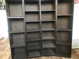 Brown leather DVD STANDS x4