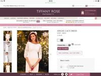 Maternity wedding dress tifanny rose abigail size 12-14