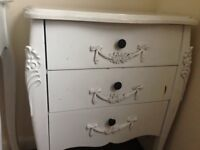 Toulouse White Small 3 Drawer Chest of Drawers
