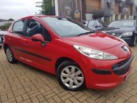 Peugeot 207 1.4 16v S Hatchback 5dr Petrol Manual, 3 Months Warranty, ONE YEAR MOT
