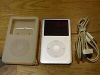 apple ipod classic 120gb 7th generation in silver