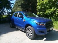 2017 Ford Ranger XL 4X4 Pick-up Low miles, £18,995+Vat.