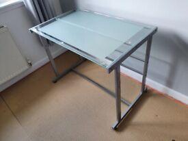 Metal ang glass desk