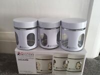 Set of 3 kitchen containers brand new in box.
