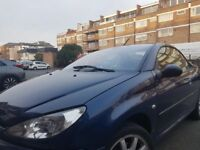 Peugeot 206 convertible done only 50000 miles looking for a quick sale