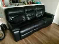 DFS premium leather reclining sofa