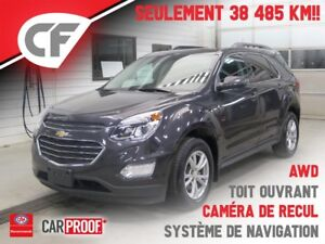 2016 Chevrolet Equinox LT - SYST. NAVIG. - AWD - TOIT OUVRANT -