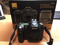 For Sale Nikon D50 DSLR Camera kit like new only 1628 shutter activations