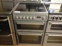 Silver Hotpoint 60cm electric cooker