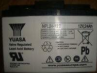 NEW YUASA 24ah LEAD ACID BATTERY - IDEAL FOR GOLF TROLLEYS