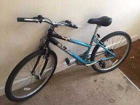 Raleigh volatile teenage unisex mountain bike ice blue shimano 18 speed