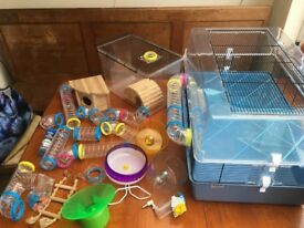 Hamster cage and all accessories like new