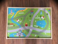 Low table for children, play table, ideal for train tracks, matchbox cars, wooden blocks, dolls hous