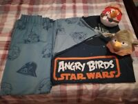 Star wars angry birds curtains and bedding set