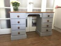 SOLID WOOD DESK/DRESSING TABLE FREE DELIVERY LDN🇬🇧CHEST 8 DRAWERS