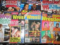 WRESTLING MAGAZINES X 6 plus 2 OTHERS THE WRESTLER MAGAZINE FROM 1996 more magazines for sale
