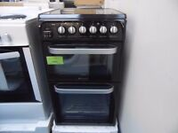 EX-DISPLAY BLACK 50 WIDE HOTPOINT ELECTRIC COOKER REF: 11656