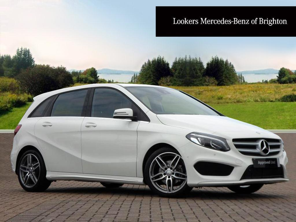 mercedes benz b class b 200 d amg line premium white. Black Bedroom Furniture Sets. Home Design Ideas