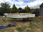 DE HAVILLAND - Whaler - 4.5m Boat inc Trailer & Motor Bendigo Bendigo City Preview
