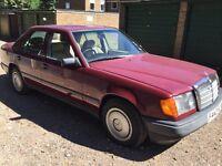 Mercedes 300D Diesel 2996cc Diesel Automatic 4 door saloon F Reg 1988 Red