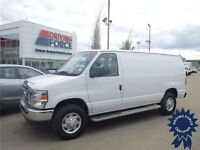 White Ford E250 Cargo Commercial Van, 8,559 KMS, Ready To Go