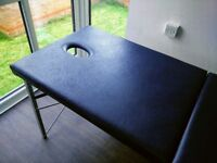 Portable navy massage couch Marsh brand