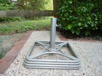Heavy metal garden umbrella stand