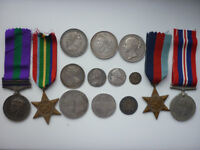 Wanted British stamps, coins and military medals by private collector