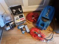 Makita mac 610 Air Compressor and brad gun and headless pinner