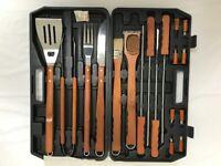 Robert Dyas Stainless Steel BBQ Tool Set - 18 Piece, Brand New