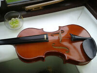 Full Size 4/4 Student Violin with classic black hard cover