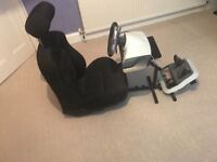 X box 360 gaming chair with steering wheel & pedals