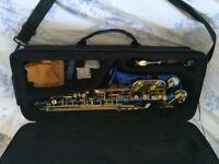 blue alto saxophone for sale