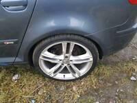 "19"" Audi RS5 Speedline Rep Alloy Wheels Good Tyres 5x112 Passat Golf A4 Jetta A6 A3"