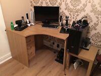 Wooden Corner Desk Good Condition