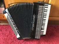 Crucianelli accordion 120 bass fitted with midi system