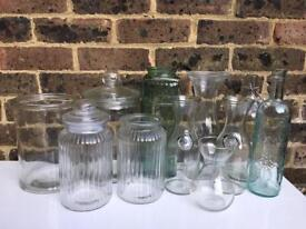 Glassware: selection of glassware perfect for weddings