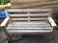 Hand made wooden bench