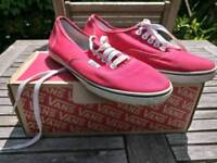 Red vans shoes size 6