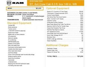 2018 Ram 2500 New Car ST 4x4|Crew w/6.4ft.Box|Diesel|SXT Appeara